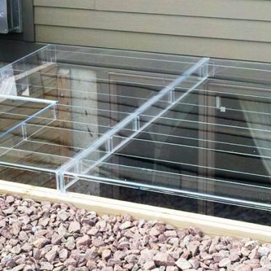 Acrylic Egress Window Well Covers Custom Plastics Fargo Nd